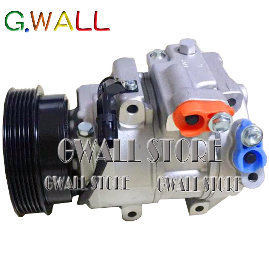 Automobile AC Bomba com Polia do Compressor Para Kia Carens 2.4L 2006-2012 97701-1D200 97701-1D400 977011D400 977011D200