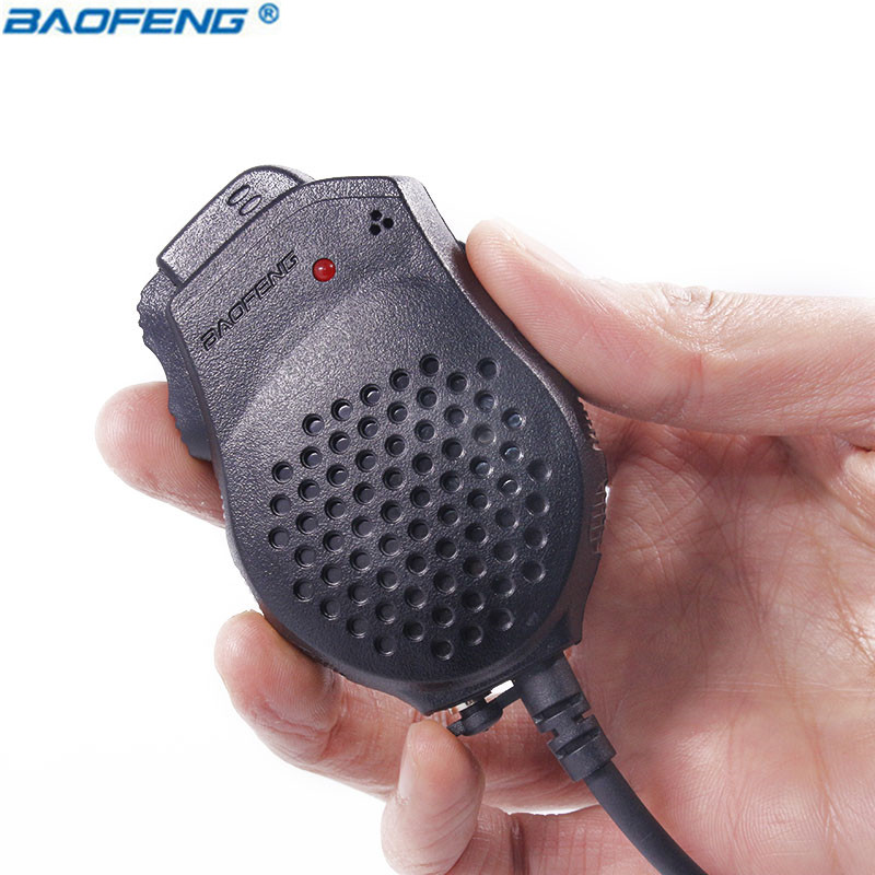 D'origine Baofeng Portable Double PTT Président Mic Microphone pour Baofeng Two Way Radio UV-82 UV-82HX UV-82HP GT-5TP Talkie Walkie