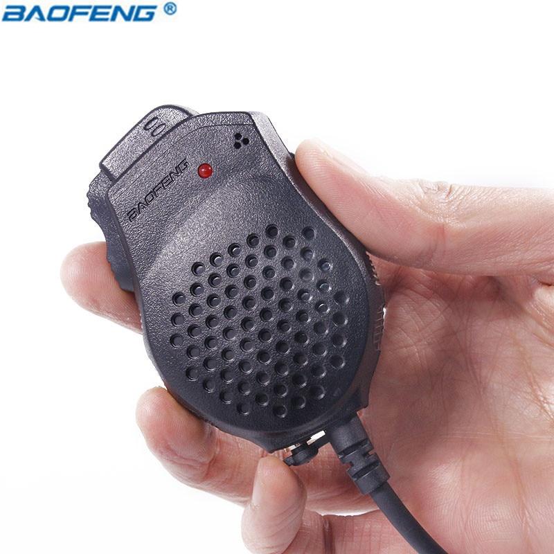 Portable Speaker Mic Dual PTT for Kenwood Baofeng TYT Two Way Radio UV-82 F8HP