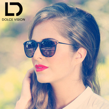 DOLCE VISION Luxury Brand Women Sunglasses For Female shades Designer Lunette Female Fashion Gradient Lens Sun Glasses Ladies