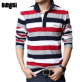 DIMUSI 2017 Summer Mens POLO Shirt Male Turn-down Collar Cotton Polo Shirt Men Long Sleeve Letters Embroidered Tees 5XL,YA571