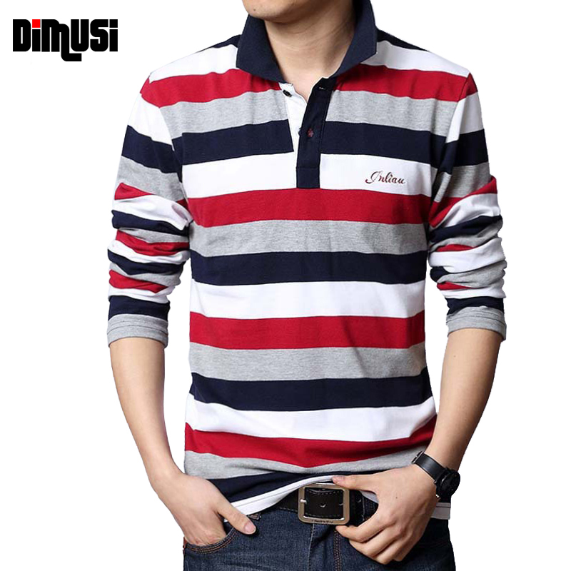 DIMUSI Summer Mens   POLO   Shirt Male Turn-down Collar Cotton   Polo   Shirt Men Long Sleeve Letters Embroidered Tees 5XL,YA571