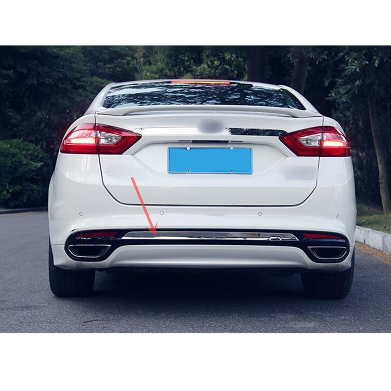 For Ford Fusion/Mondeo 2013 2014 Stainless Rear Tail Bumper Decorative Molding Cover Trim 1pc стоимость