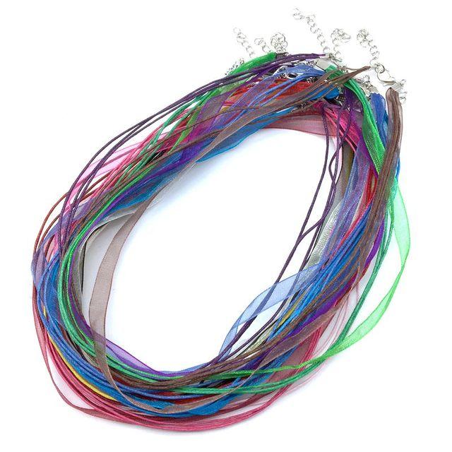 Bunte Kabel bunte silk organza ribbon kabel halskette wachs baumwolle draht