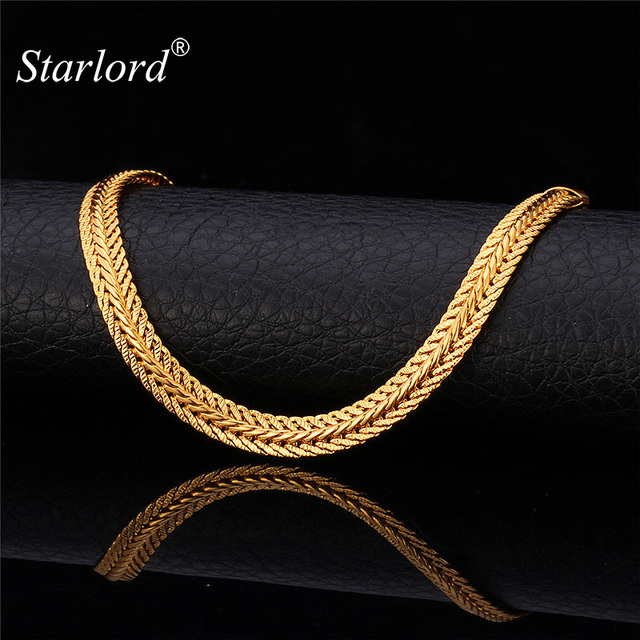 Men long foxtail chain necklace 6mm width 32 length rose gold men long foxtail chain necklace 6mm width 32 length rose goldyellow gold aloadofball Images