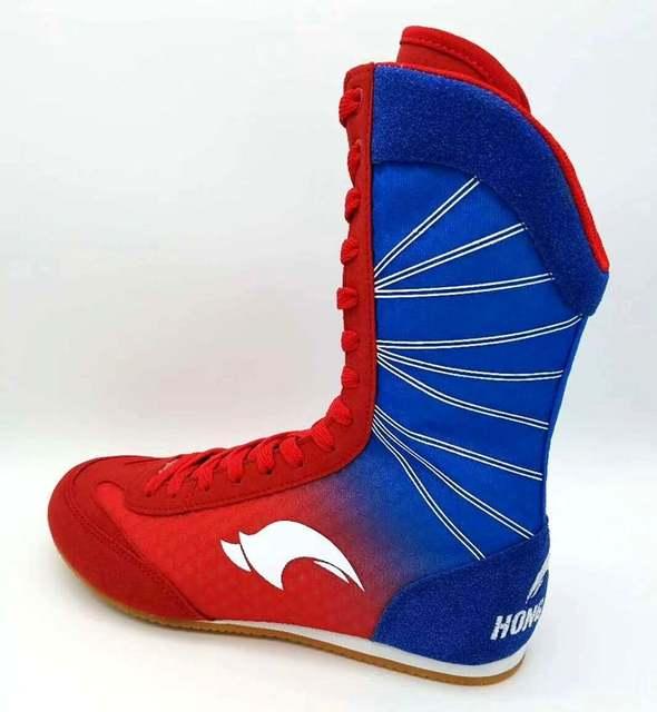 d9878b28b1785c placeholder Bottes de boxe professionnelles chaussures de lutte en  caoutchouc baskets de Combat boxer Gym formation bottes