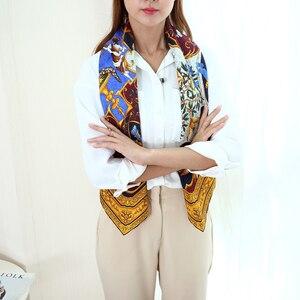 Image 3 - Amazing Thiết Kế Vuông Lớn 100% Lụa Chân Hijab 88*88 Cm Quần Áo Thời Trang Phụ Kiện