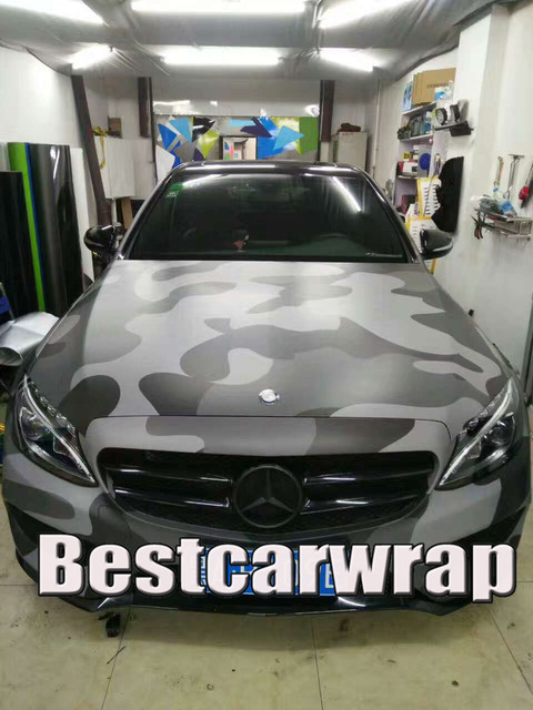 black gray large spots camouflage vinyl car wrap film wrapping foil with air bubble free. Black Bedroom Furniture Sets. Home Design Ideas