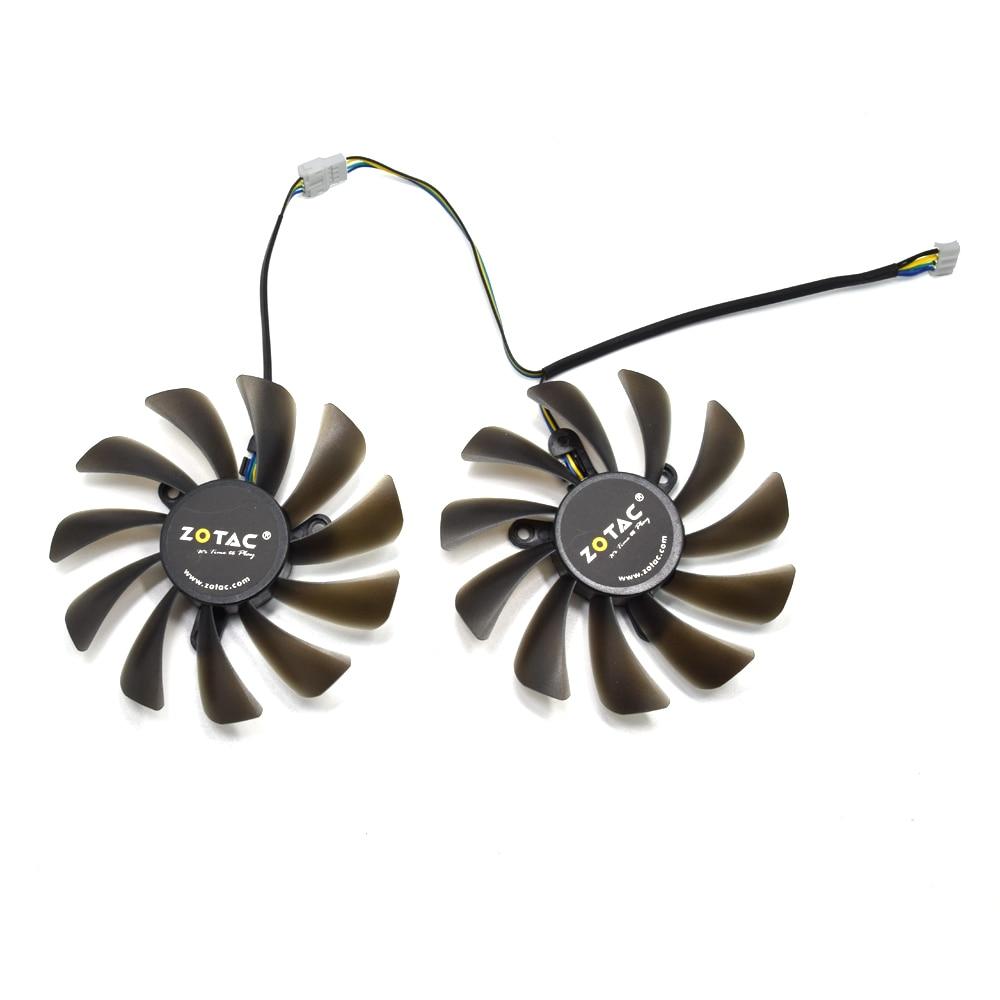 Nuevo 95mm 42mm 4Pin ventilador de reemplazo para palit Geforce GTX 1080 gamerock Premium Edition Ti GTX 1080Ti AMP edición VGA tarjeta gráfica ventilador de refrigeración DIY
