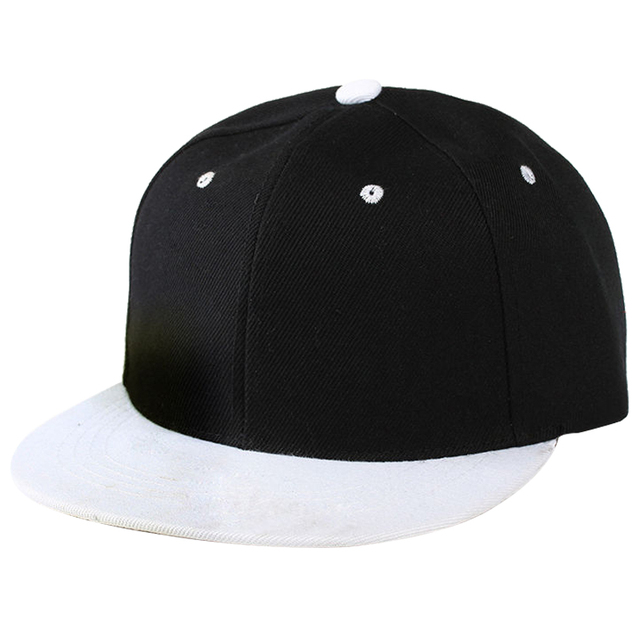 Plain Snapback Hat Caps Flat Peak Funky Retro Baseball Cap Hip Hop Hats  Vintage Black White a2600402ea1