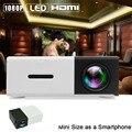 Mini 1080 P Full HD LED Proyector LCD de Cine En Casa HDMI AV Multimedia Negro REINO UNIDO APE