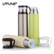 2018 Bpa free Insulated Portable Vacuum cup stainless steel thermos Flasks bottle creative water travel coffee mug with lid Cap