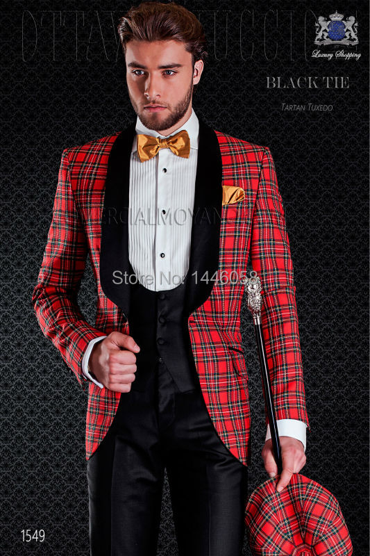 2017 New Italian Style Special Groom Wear Groomsmen Slim Fit Men Wedding Suits Prom Party Tuxedos Bridegroom (Coat+Pants+Vest)