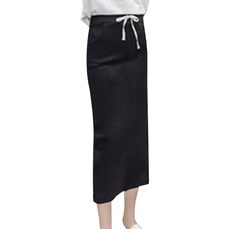 Spring Summer Sexy Women Bodycon Split Long Skirt Black High Waist Tight Maxi Skirts Club Party Wear Elegant Pencil Skirt
