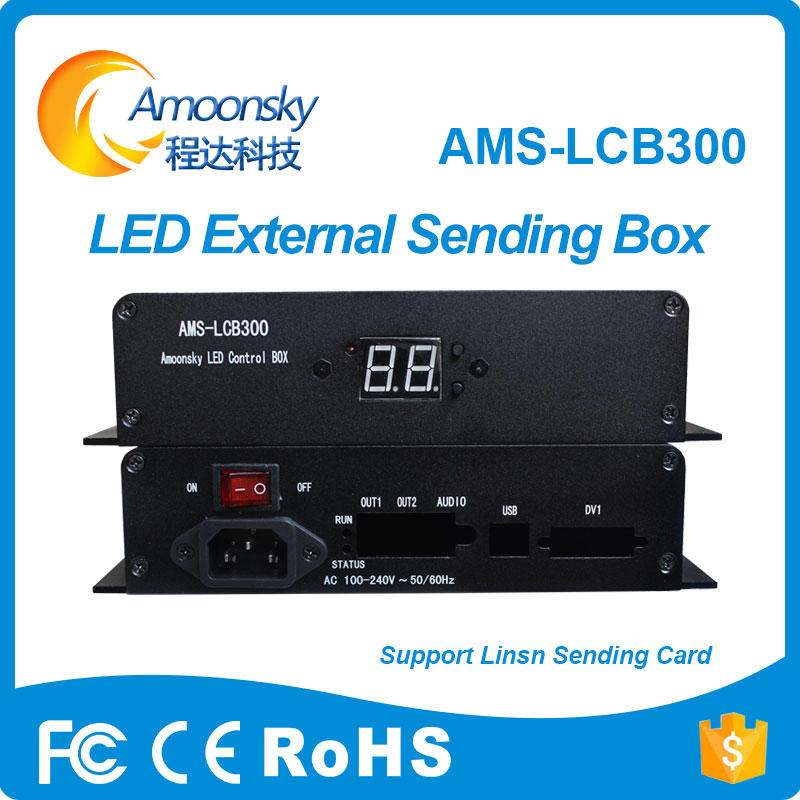 Lowest Price Synchronous LED Display Control Card System Linsn TS 802 TS 901 Sending Card Box