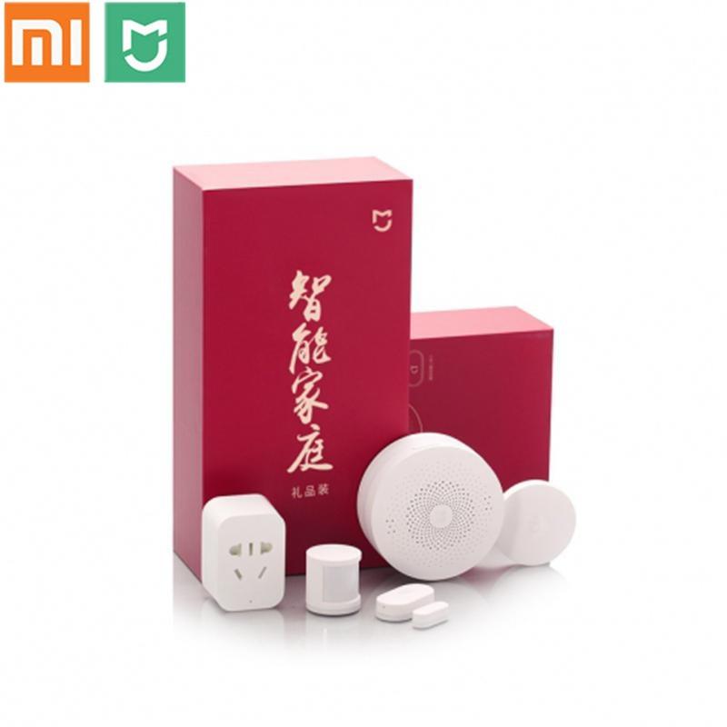 Original Xiaomi Mijia Smart Home Kit Gateway Window Door Sensors Body Sensor Wireless Switch Mi 5 in 1 Smart Home Security Kit