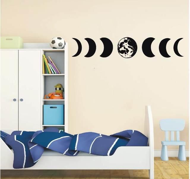 YOYOYU Art Home Decor Design De Fases Da Lua Decalque Da Parede Do Vinil  Adesivo Início Casa Decoração Papel De Parede DIY Cartaz WW 467