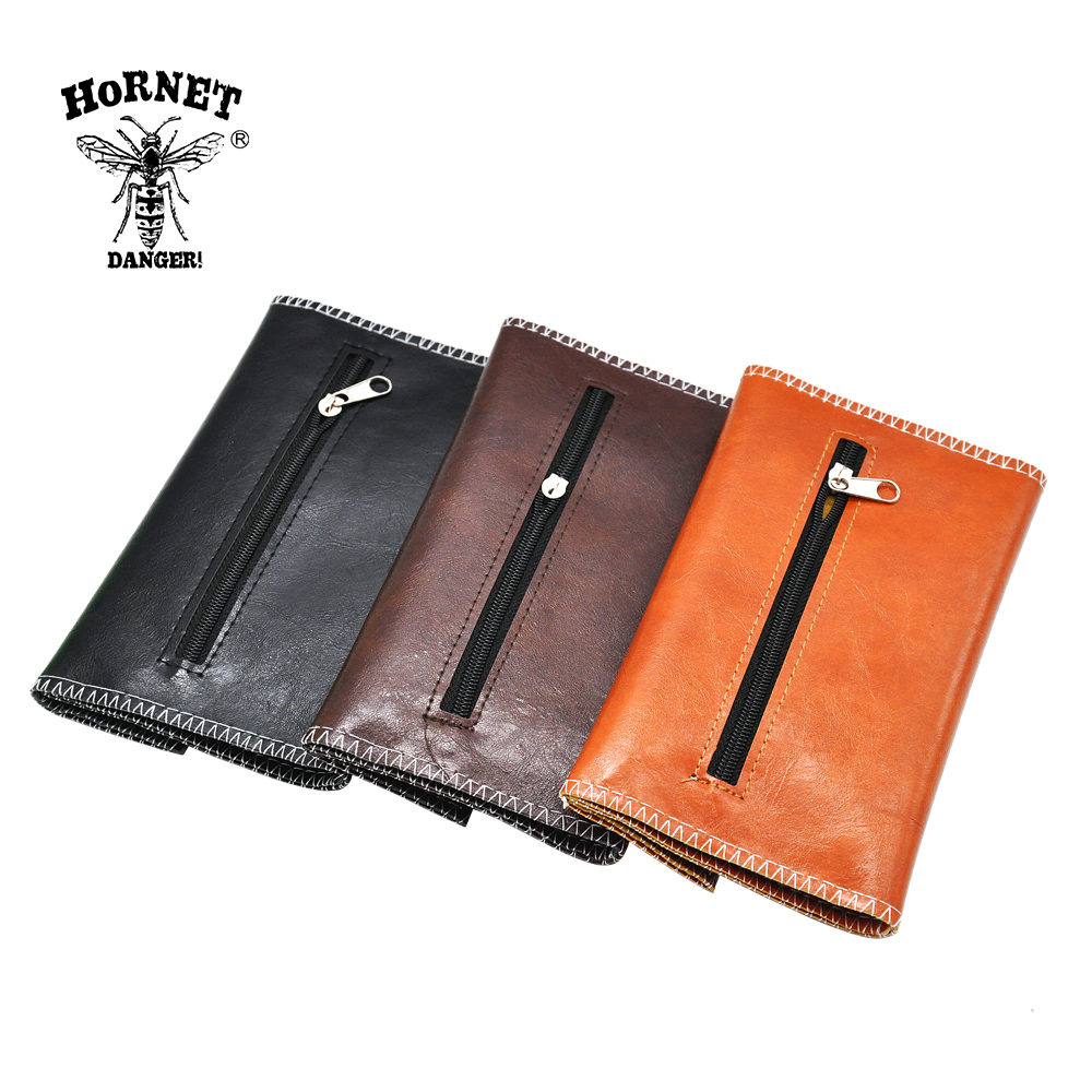 HORNET Leather Tobacco Pouch Portable Cigarette Rolling Pipe Tobacco Bag Case Wallet Tip Paper Holder Smoking Accessories 5
