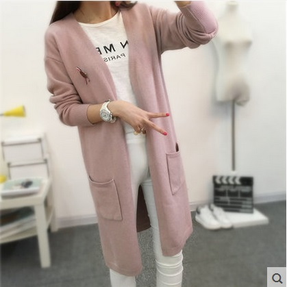New rrive Damer Långärmad tröja Cardigan 2016 Fashion Cashmere Stickad Cardigans Plus Size Lösa jackor Outwear