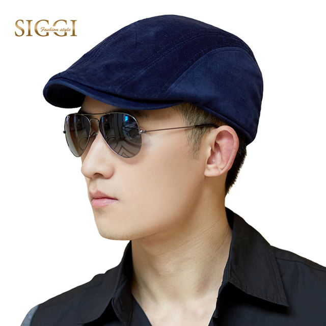 SIGGI Men Cotton Newsboy Visor Hat Winter Flat Cap Autumn Gatsby Ivy Irish  Hunting 68078 3001fd519f1