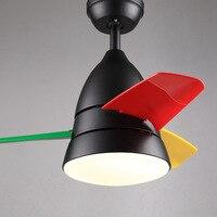 26 Inch חדר ילדים מנורת תקרה מאוורר עם שלט רחוק מאוורר מנורות לחדר אוכל חדר שינה אילם מודרני יפה 2087