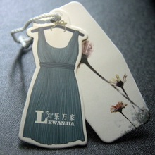 Custom Coated Paper Card Haute Couture Tags Clothing