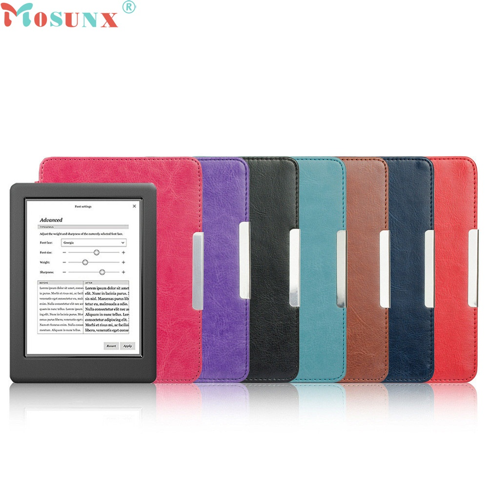 Beautiful Gitf 2017 New Magnetic Auto Sleep Slim Cover Case Hard Shell For KOBO GLO HD 6.0inch Wholesale price Dec22