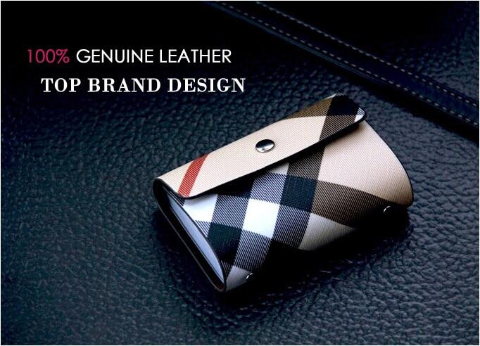 Kavya Top Marke Designer Männer & Frauen Leder Kreditkarteninhaber Visitenkarte Fall & ID Wallets 26 Karten Geschenkbox