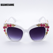 2018 New Luxury Queen cat eye Sunglasses