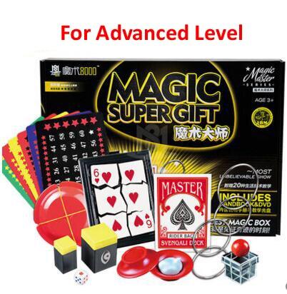 Classique enfants tours de magie set jouets super haute qualité avec manuel DVD tours de magie spectacle de scène cadeau pour les enfants - 4
