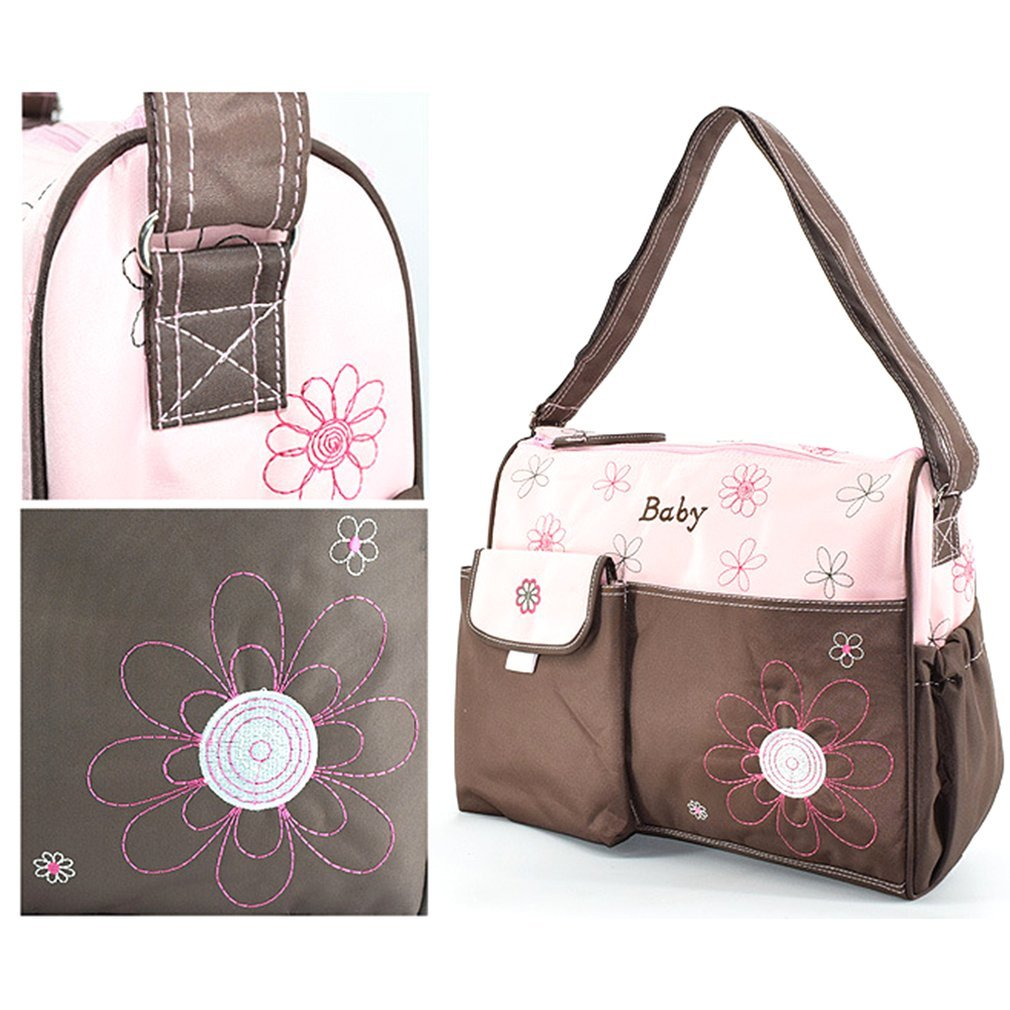 Baby Nappy Bags Fashion Mommy Bag Large Capacity Double zipper Embroidery Maternity Single Backpack Baby Nursing Diaper Bag