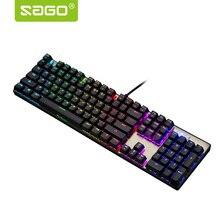 Саго Игры Механическая клавиатура светодиодный подсветкой Motospeed ck104 Клавиатура для Windows/Vista/Gamer компьютер