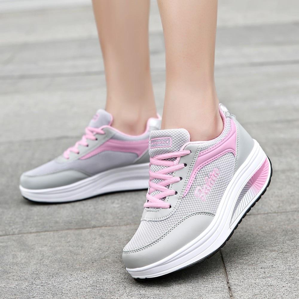 Frauen Schuhe Youyedian Mode Schuhe Frau Mesh Erhöhung Schuhe Weichen Boden Schaukel Schuhe Turnschuhe Plattform Turnschuhe Creeperal #3 Seien Sie Im Design Neu