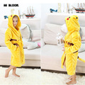 Easter Gift Pokemon Pikachu Boys Girls Sleepwear Pajamas Carnival Children's Bathrobes Anime Costume Flannel Hoodie Robe HOT!!