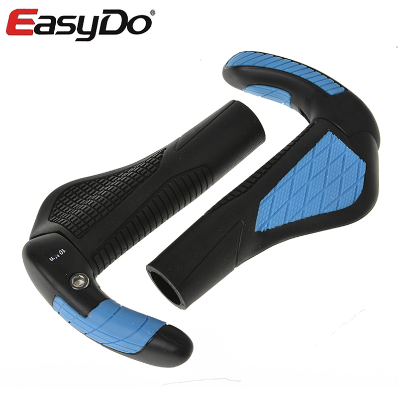 EasyDo Bike Bicycle MTB Touring Ergonomic Kraton <font><b>Grips</b></font> Fiberglass Barends Bar Ends Handlebars Push On Soft Rubber <font><b>Grips</b></font> 5 Colors