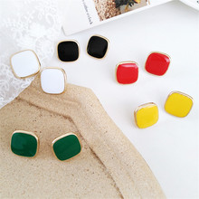 Earrings beautiful woman contracted fashion earrings candy color restoring ancient ways geometry character earrings fine jewelry цена