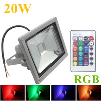 Ip65 Spotlight RGB LED Flood Light 20W RGB Foco LED Exterior Spot Floodlight Projecteur Reflector LED Outdoor Light For Garden
