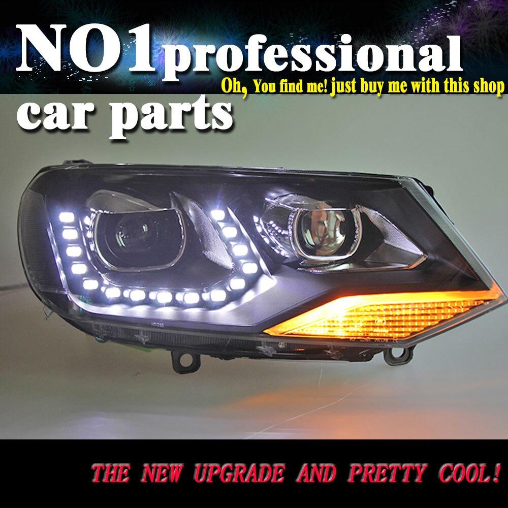 OUMIAO Car Styling for VW Touareg Headlights 2011 2014 Touareg LED Headlight DRL Lens Double Beam H7 HID Xenon bi xenon lens