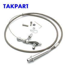 TAKPART TH-350 из нержавеющей плетеной передачи выкидывающийся кабель Detent Chevy Транс