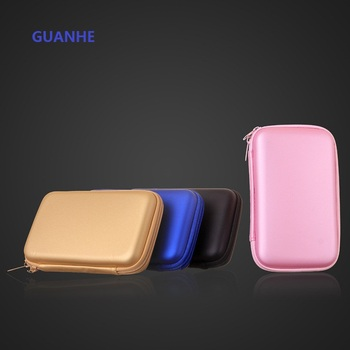 GUANHE Portable Black Hard Carry Case Pouch Bag Zipper Pouch For 2.5″ HDD GPS Power Bank /cosmetic