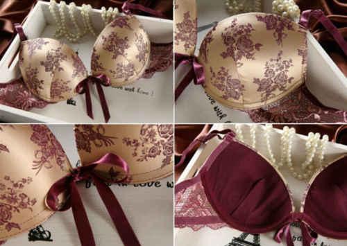 Hirgin 2 Pieces 2019 Newest Women Sexy Bra Crop Top Lingerie Corset Lace  Push Up Vest Top Bra Set Underwear Suit