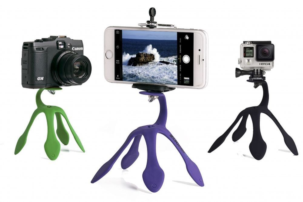 Gekko Pod Mount Holder for SmartPhone and GoPro Attaches to Anything  цена