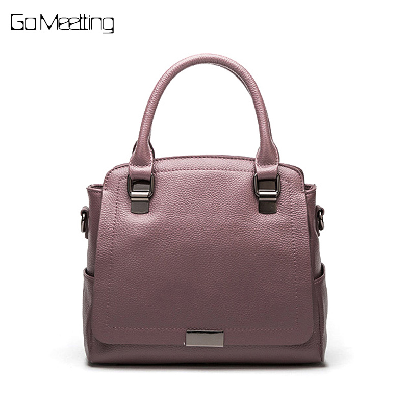 Go Meetting Genuine Leather Women Shoulder Bag Brand Designer Cowhide genuine leather handbags Skin Crossbody bag ladies totes luxury genuine leather bag fashion brand designer women handbag cowhide leather shoulder composite bag casual totes