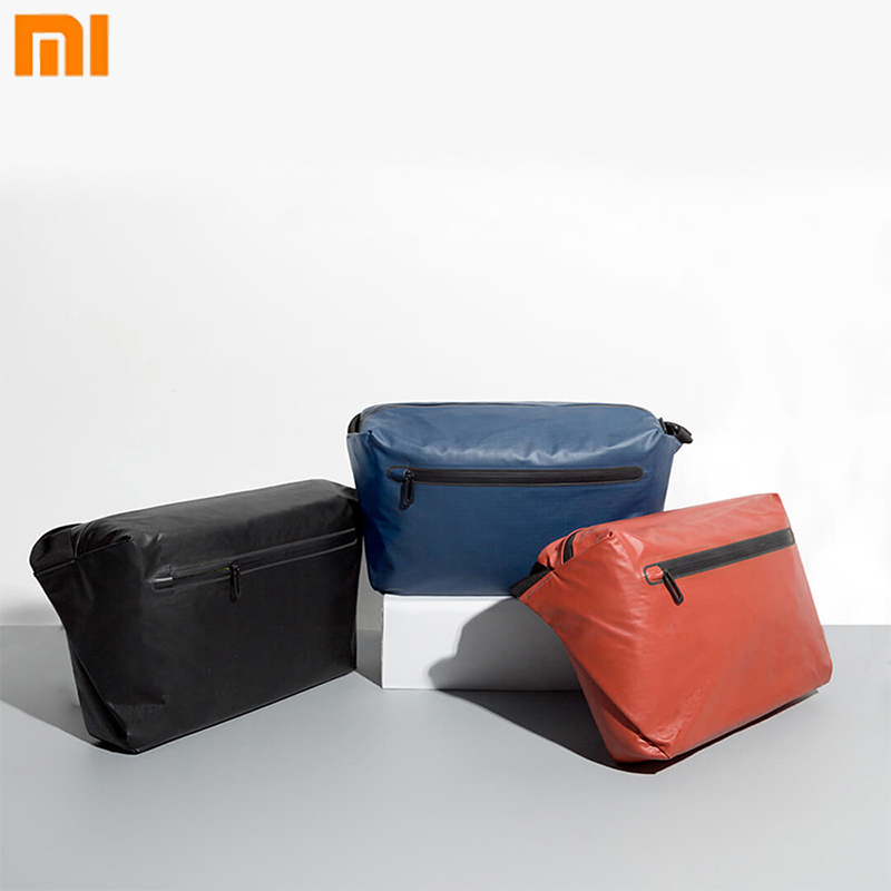 Original Xiaomi 90 Point Postman Bag Large Capacity Waterproof Pocket Backpacks Warning Light Bar Shoulder Bag