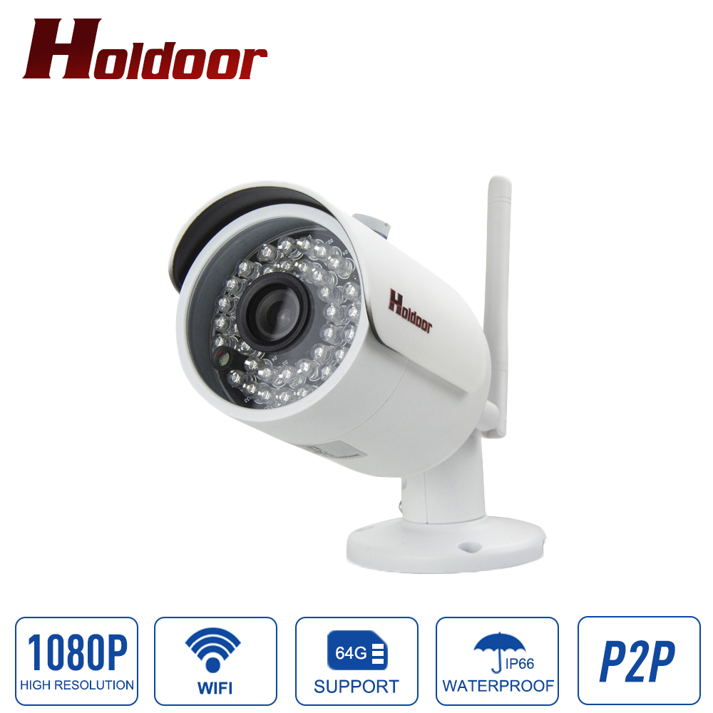 WIFI Camera 1080P HD H.264 IR Night Vision Outdoor Waterproof IP66 Onvif 2.0.4 P2P Wireless CCTV Network Surveillance Free APP vstarcam c7816wip onvif hd 720p wireless p2p ir cut night vision tf card slot outdoor waterproof network wifi cctv ip camera