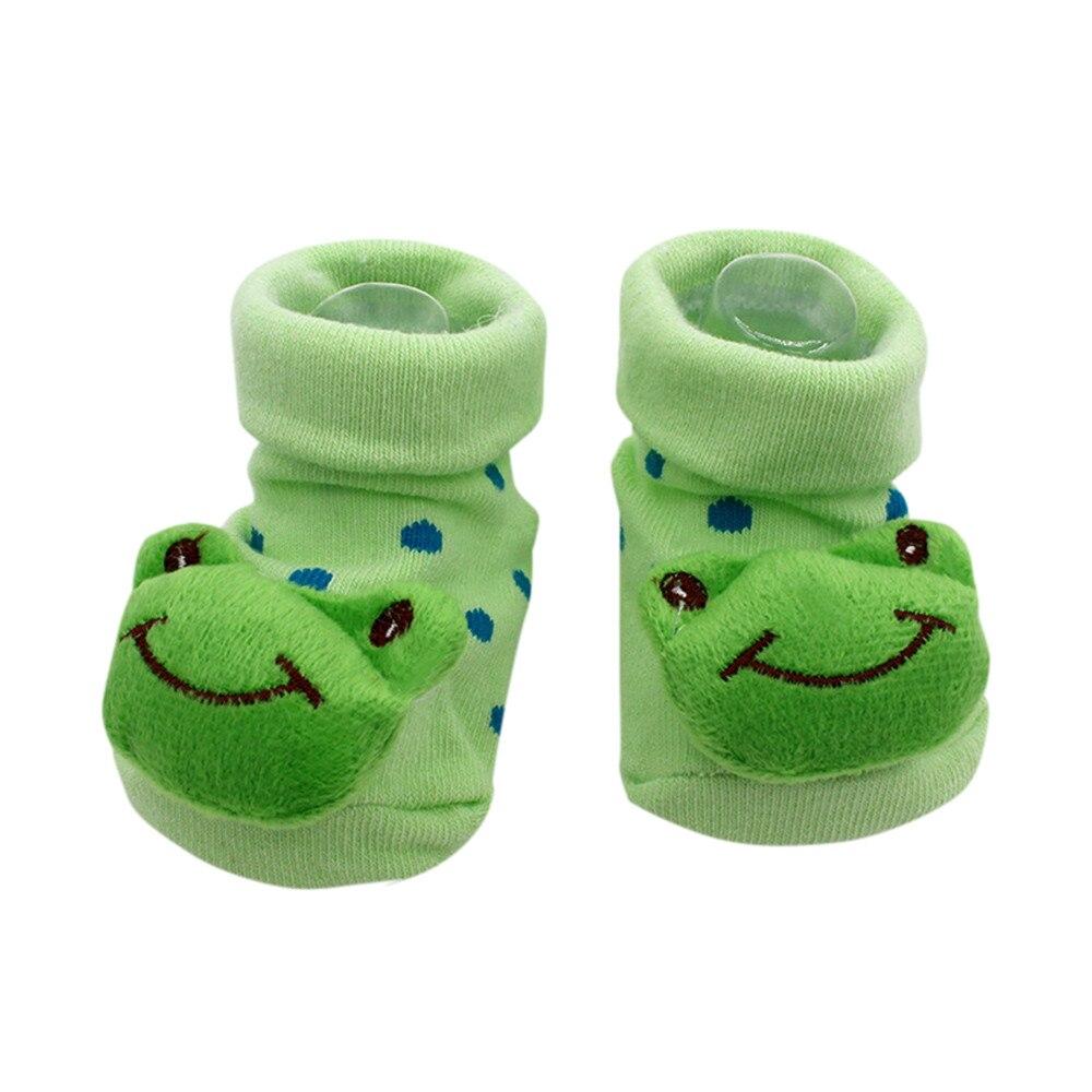 Infant Baby Girl Boy Toddler Anti-slip Warm Slippers Socks Cotton Crib Shoe Mxt
