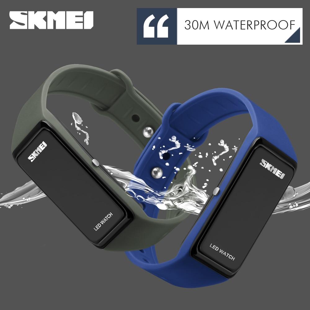 b9652025841 Skmei marca homens esportes relógios crianças relógios de pulso led relógio  digital esportes das mulheres relógio
