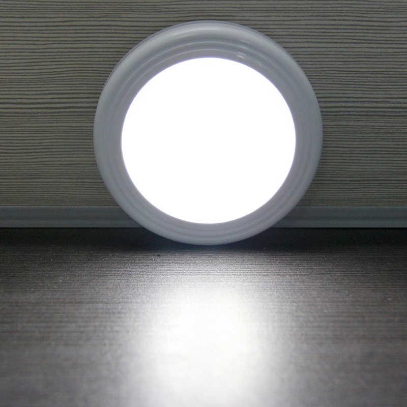 แม่เหล็กอินฟราเรดIRเซ็นเซอร์เคลื่อนไหวสดใสเปิดใช้งานนำโคมไฟติดผนังไฟกลางคืนอัตโนมัติเปิด/ปิดแบตเตอรี่ดำเนินการสำหรับห้องโถงp athway
