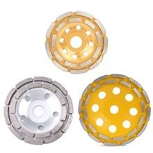 115/125/180 мм Diamond двухрядные шлифовальный диск кирпича бетона Cut шлифовальный диск для угловая шлифовальная машина Стекло керамика режущие инструменты
