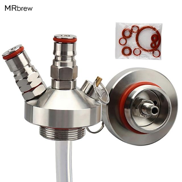 Stainless Steel Mini Keg Tap Dispenser with 12'' Beer Hose 1